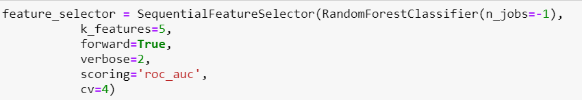 Feature selection Python